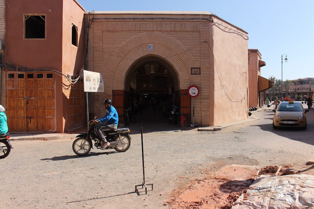 Entrance to Bab Es Salaam Market in the Mellah of Marrakech