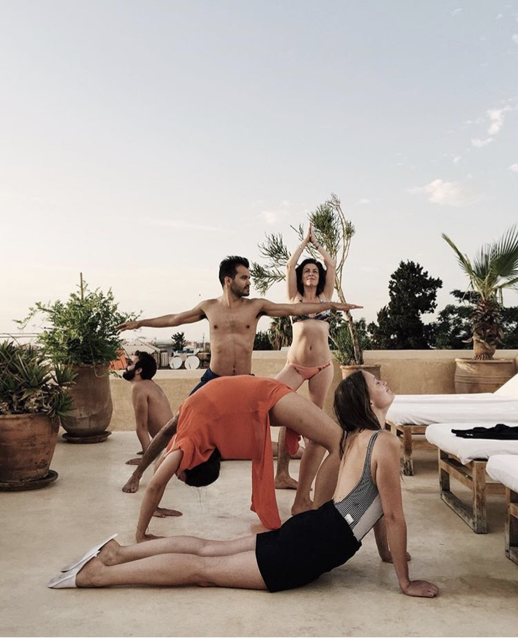 Yoga in Marrakech on Riad 72's rooftop terrace by @thetravellingsombrero